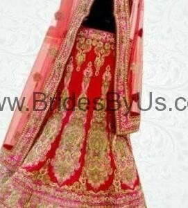 Red Bridal lehenga