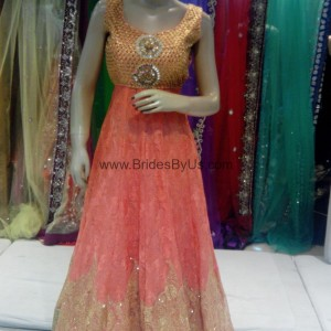 Golden Pink Party Gown