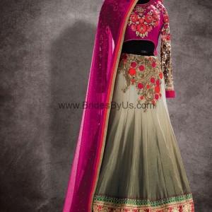 Gray Ravishing Lehenga Choli With Lace Work