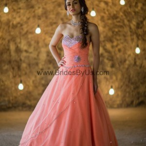 Sobber Pink Party Gown