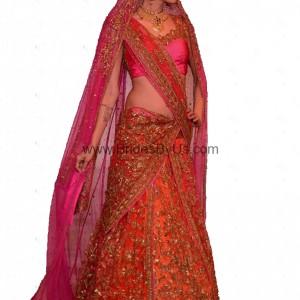 orange-pink-net-bridal-lehenga-choli
