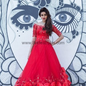 Rose Red Party Gown