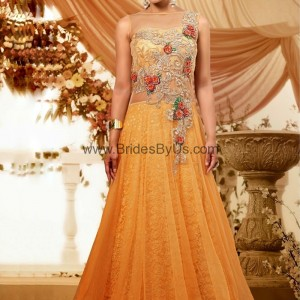 Yellow Net Gown